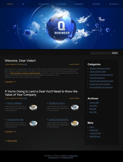ADOBE Photoshop Template 49785 Home Page Screenshot