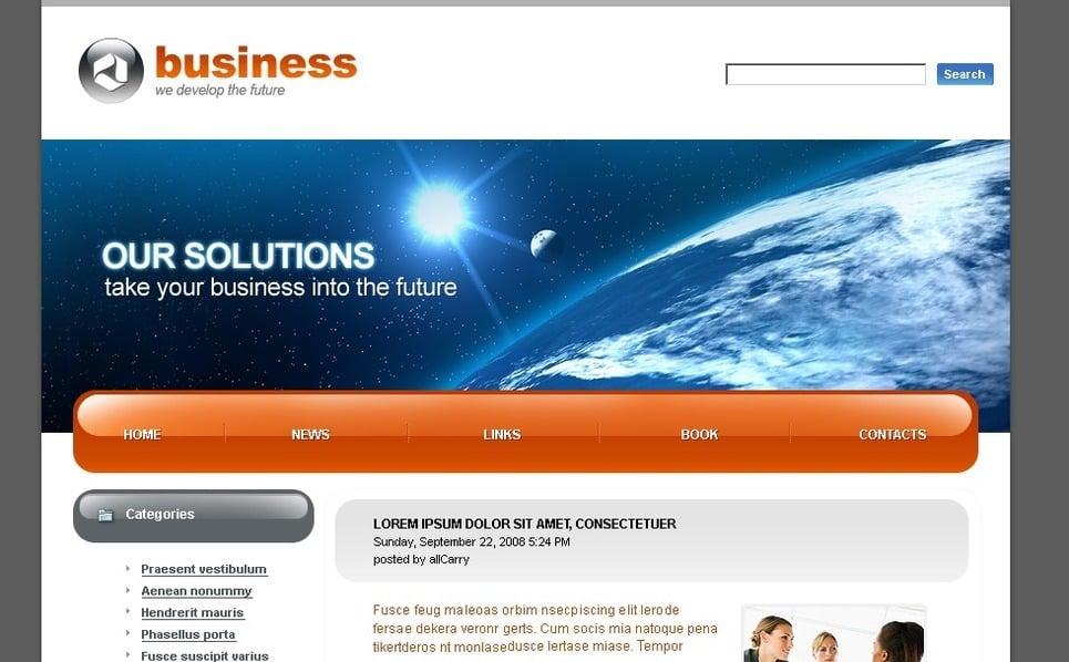Plantilla PSD #49786 para Sitio de Negocio y Servicios New Screenshots BIG