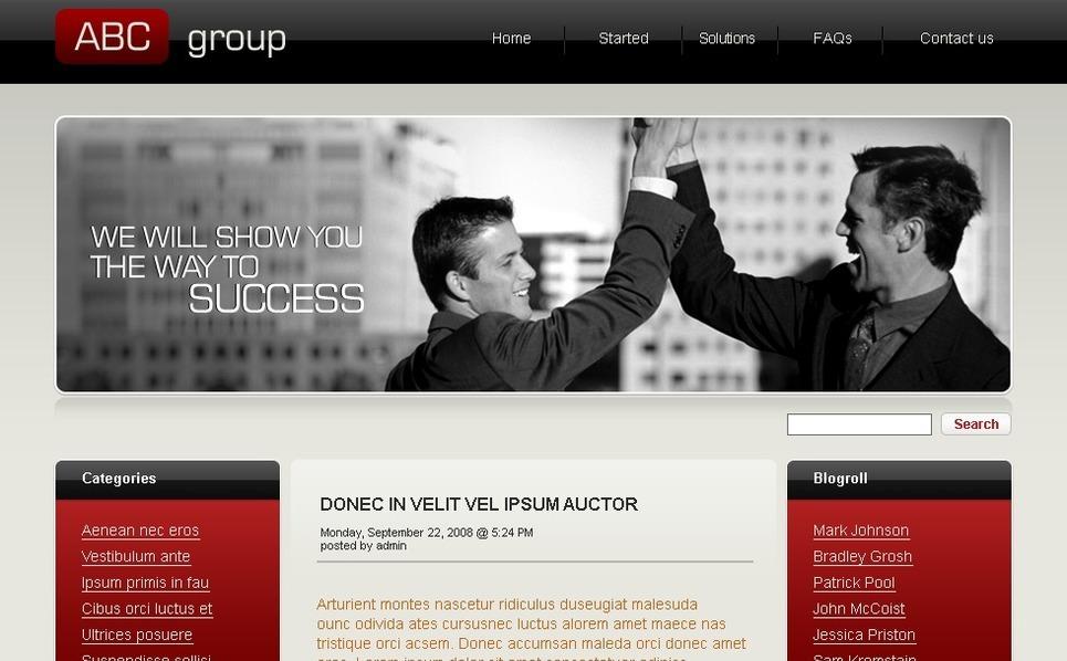 Szablon PSD #49788 na temat: biznes i usługi New Screenshots BIG