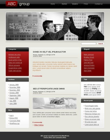 ADOBE Photoshop Template 49788 Home Page Screenshot