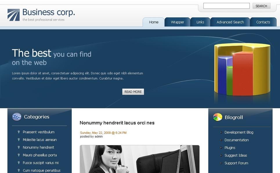Template Photoshop  para Sites de Negócios e Prestadores de Serviços  №49789 New Screenshots BIG