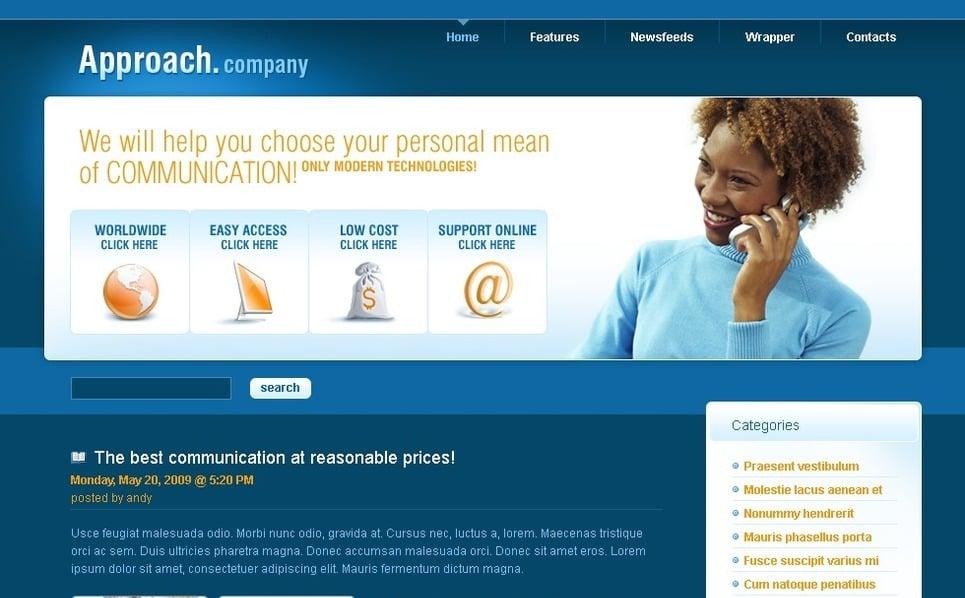 PSD шаблон №49791 на тему Бизнес и услуги New Screenshots BIG