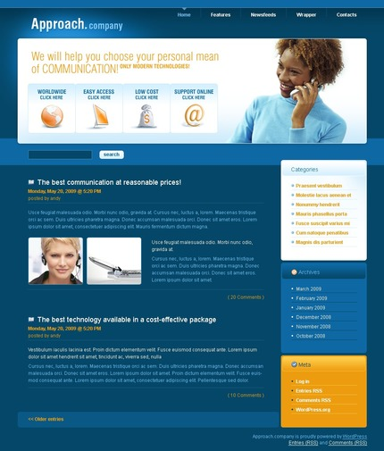 ADOBE Photoshop Template 49791 Home Page Screenshot