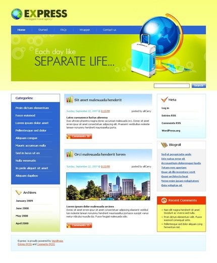 ADOBE Photoshop Template 49796 Home Page Screenshot