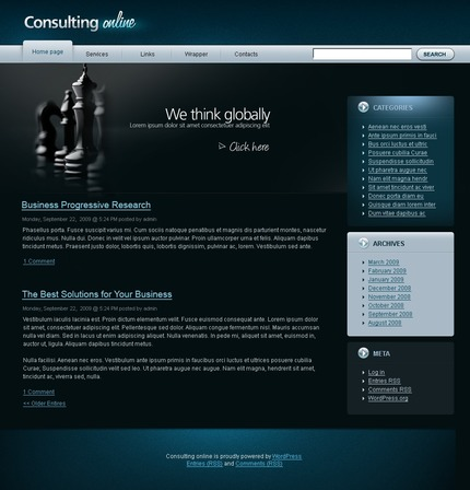ADOBE Photoshop Template 49799 Home Page Screenshot