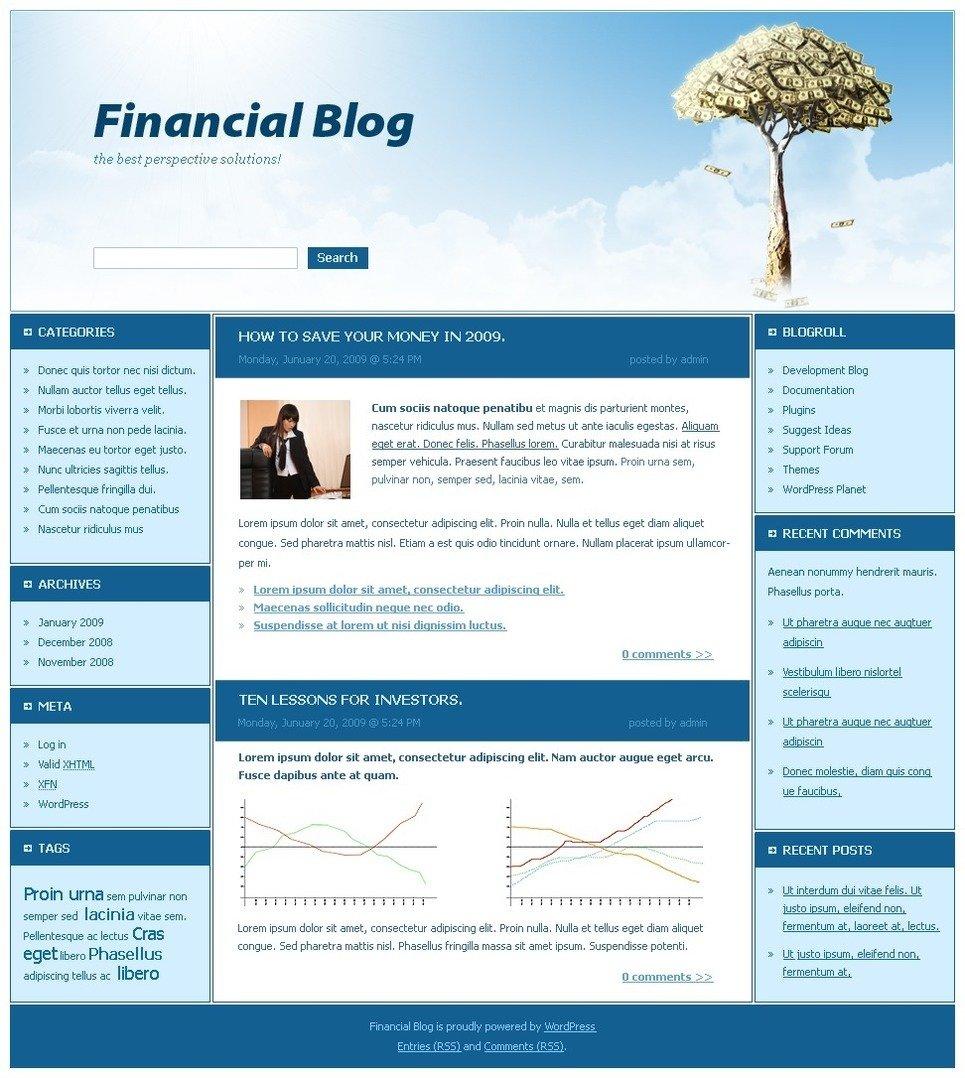Financial Advisor PSD Template New Screenshots BIG
