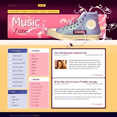 Music Blog Templates   TemplateMonster