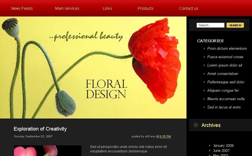 Plantilla PSD #49700 para Sitio de Flores New Screenshots BIG
