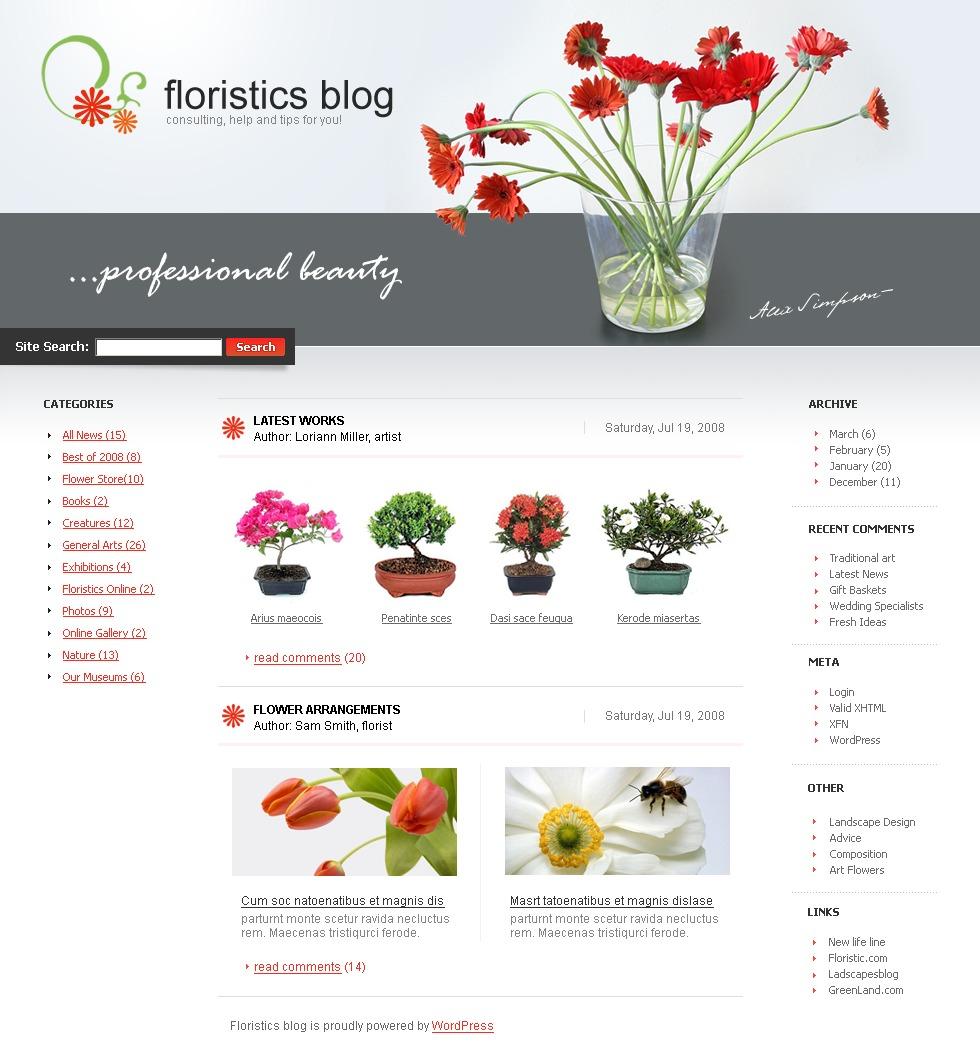 PSD šablona Květiny #49703