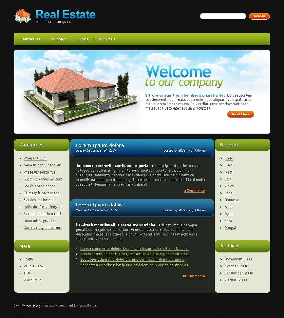 Real Estate Agency PSD Template New Screenshots BIG