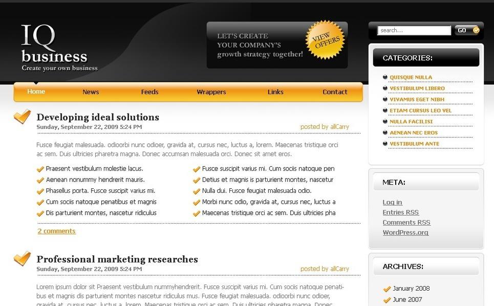 PSD шаблон №49802 на тему Бизнес и услуги New Screenshots BIG