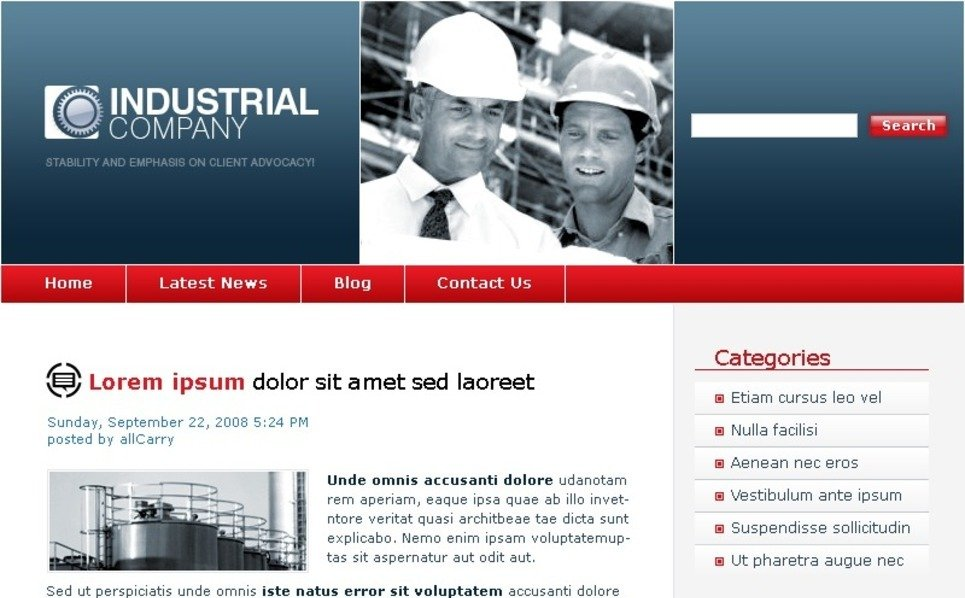 Template Photoshop  para Sites de Industrial №49804 New Screenshots BIG