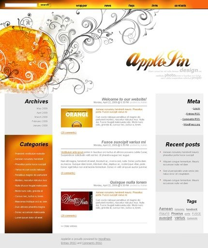 ADOBE Photoshop Template 49805 Home Page Screenshot