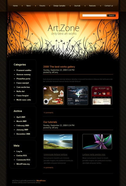 ADOBE Photoshop Template 49807 Home Page Screenshot