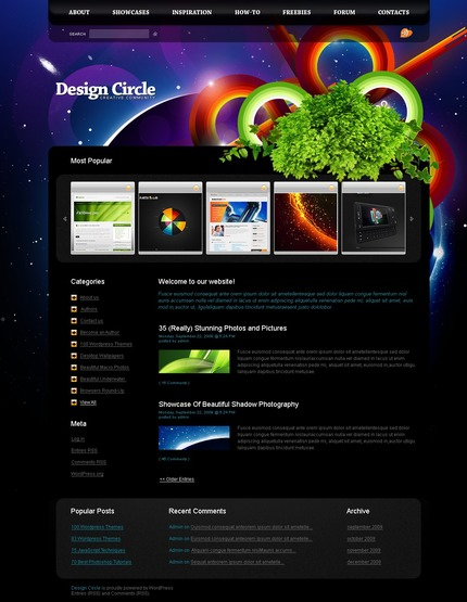ADOBE Photoshop Template 49808 Home Page Screenshot