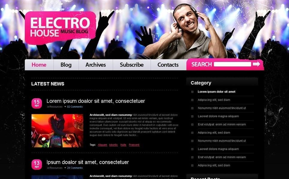 PSD шаблон №49811 на тему Шаблон блога о музыке New Screenshots BIG