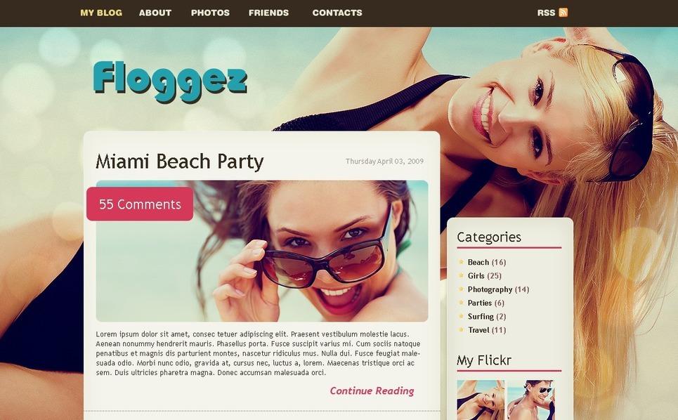 个人网页PSD模板 New Screenshots BIG