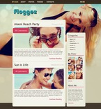 Personal Page PSD  Template 49812