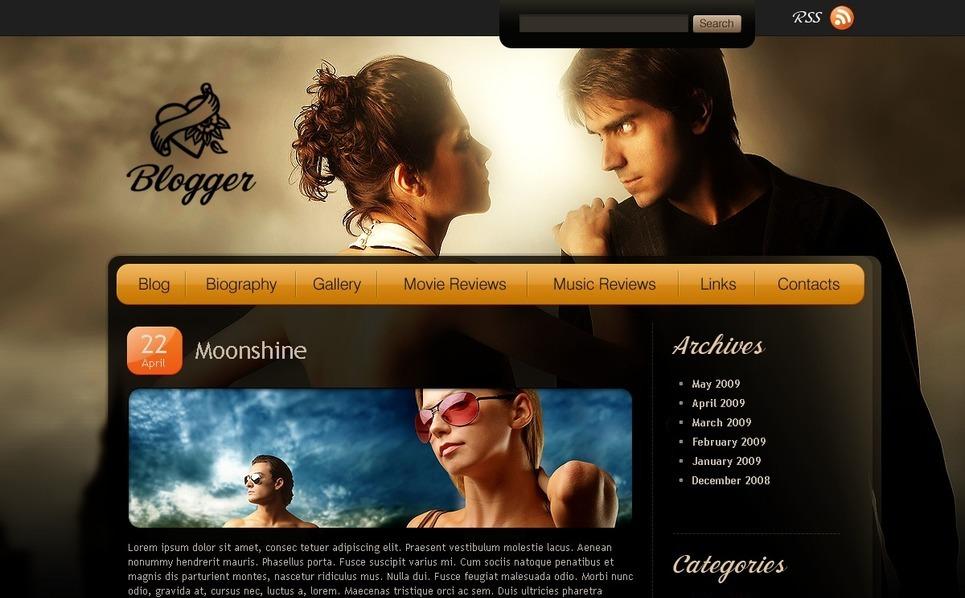 Szablon PSD #49815 na temat: blog muzyczny New Screenshots BIG