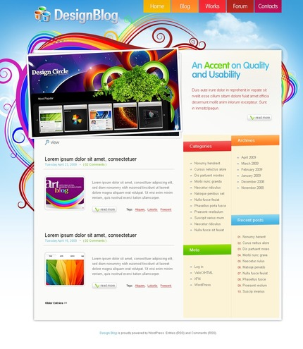 ADOBE Photoshop Template 49817 Home Page Screenshot