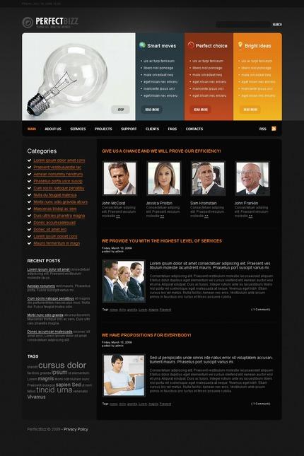 ADOBE Photoshop Template 49818 Home Page Screenshot