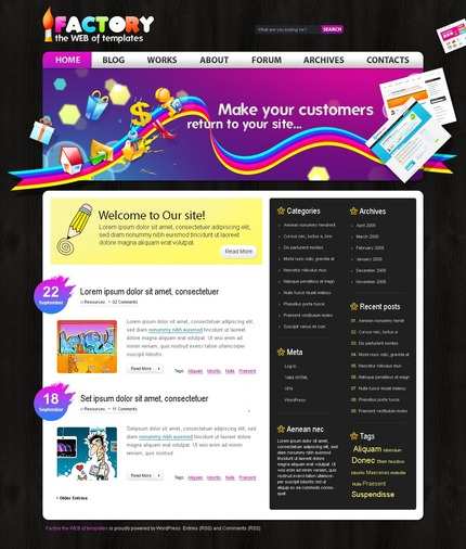 ADOBE Photoshop Template 49821 Home Page Screenshot