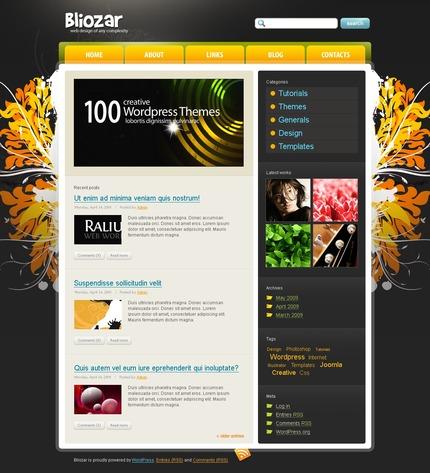 ADOBE Photoshop Template 49822 Home Page Screenshot