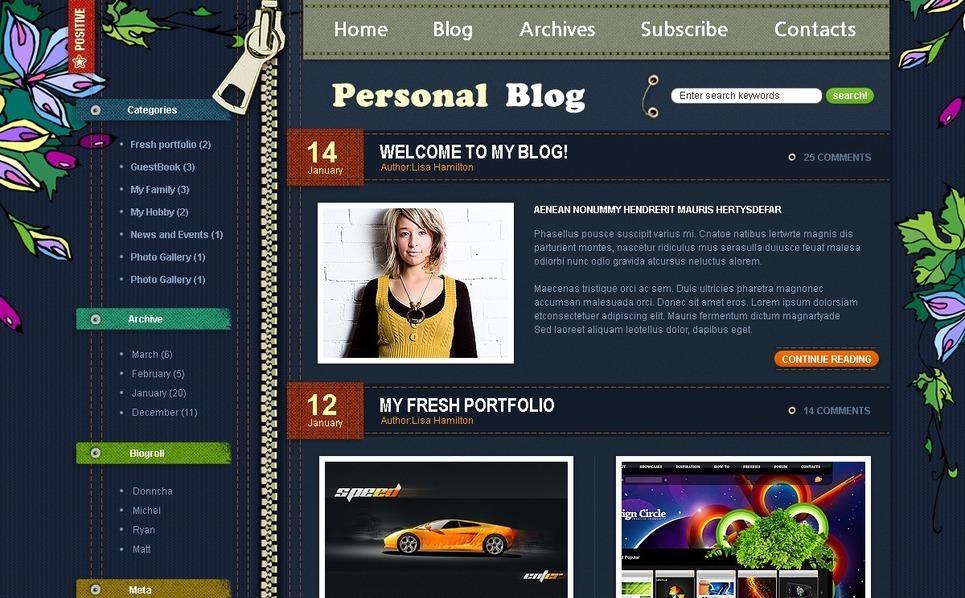 Modello PSD  #49823 per Un Sito di Pagine Personali New Screenshots BIG