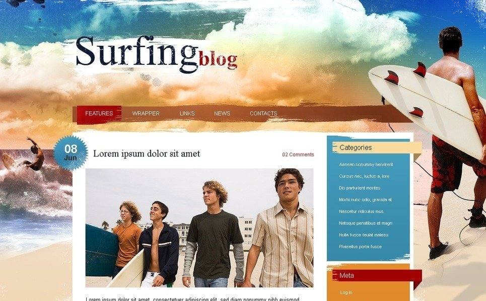 PSD Template over Surfen  New Screenshots BIG