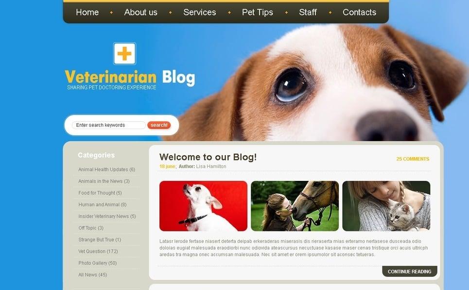 Template Photoshop  para Sites de Veterinária №49832 New Screenshots BIG