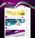 Web design PSD  Template 49834