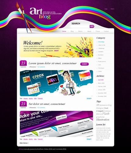 ADOBE Photoshop Template 49834 Home Page Screenshot