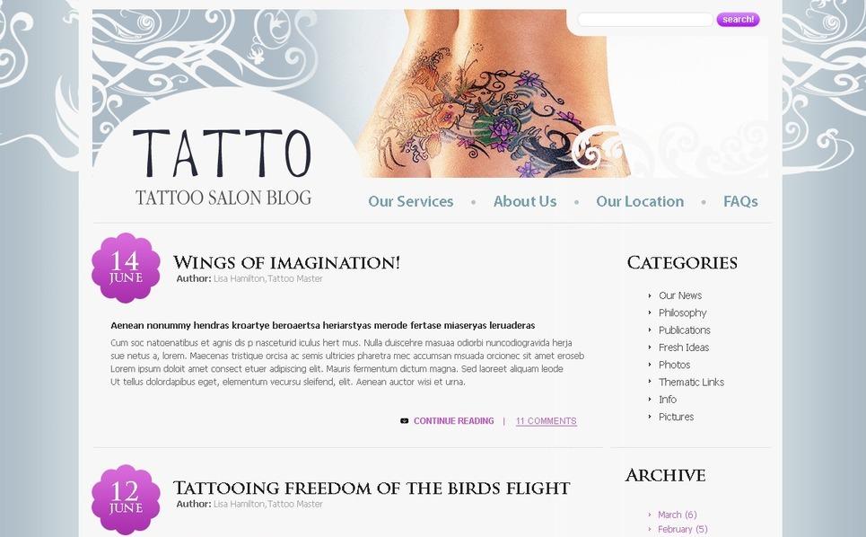 Tetováló szalonok PSD sablon New Screenshots BIG
