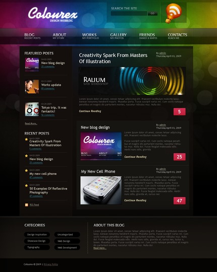 ADOBE Photoshop Template 49836 Home Page Screenshot