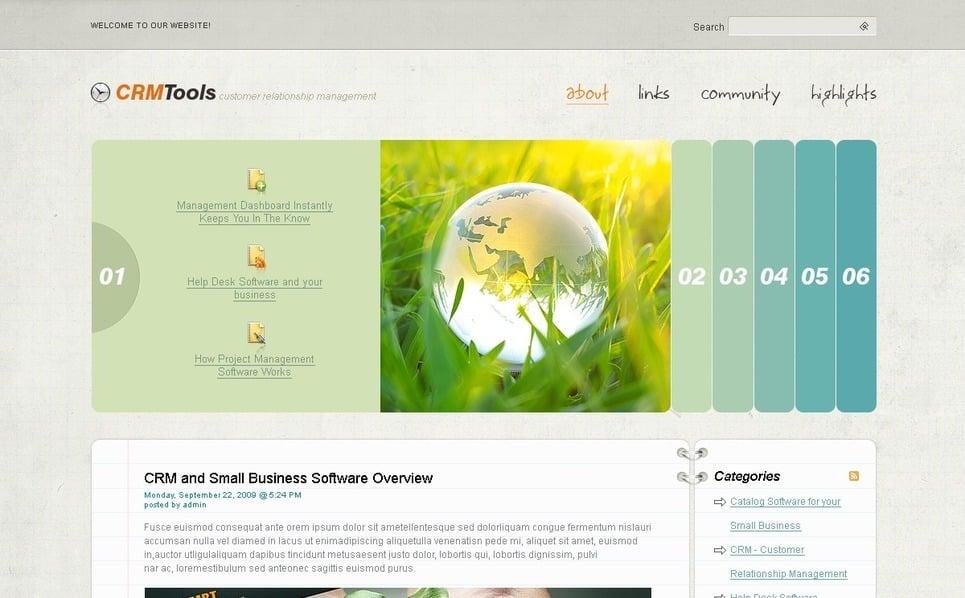 PSD шаблон №49838 на тему бизнес и услуги New Screenshots BIG