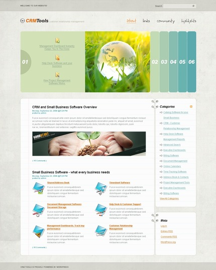 ADOBE Photoshop Template 49838 Home Page Screenshot
