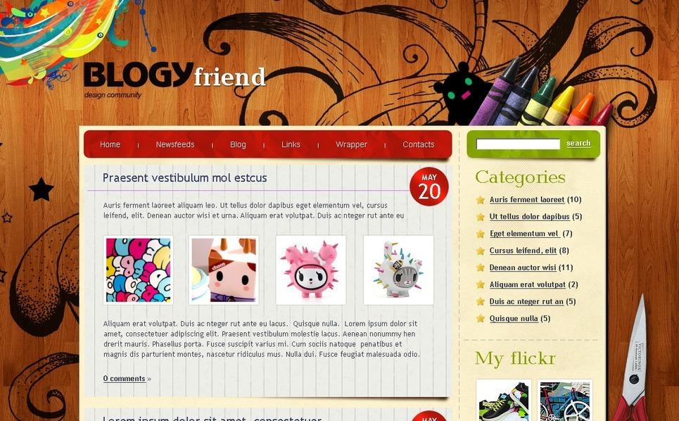 PSD Vorlage für  Persönliche Seite New Screenshots BIG