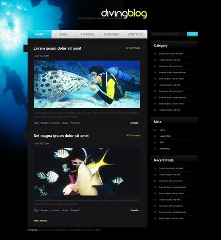 ADOBE Photoshop Template 49842 Home Page Screenshot
