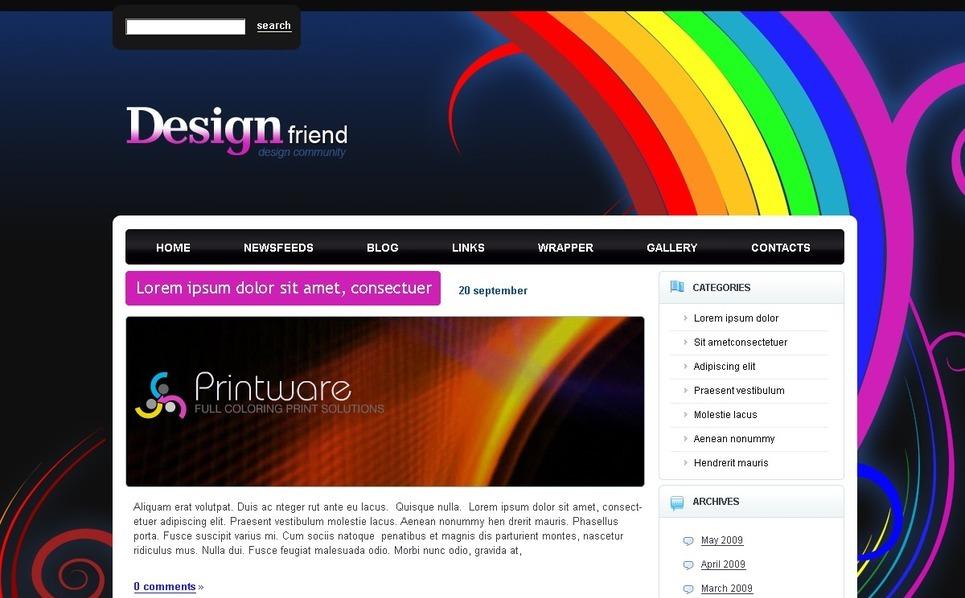 PSD шаблон №49846 на тему  студии дизайна New Screenshots BIG