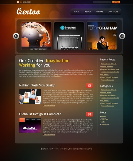 ADOBE Photoshop Template 49848 Home Page Screenshot