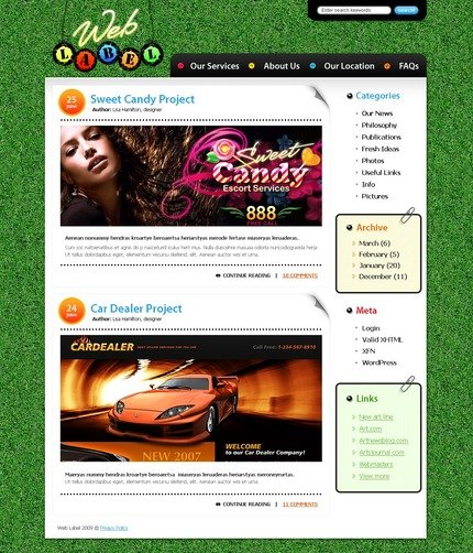 PSD макет сайта №49851