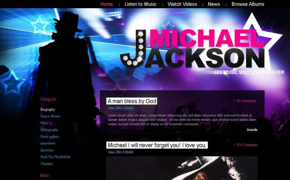 Plantilla PSD #49852 para Sitio de Música New Screenshots BIG