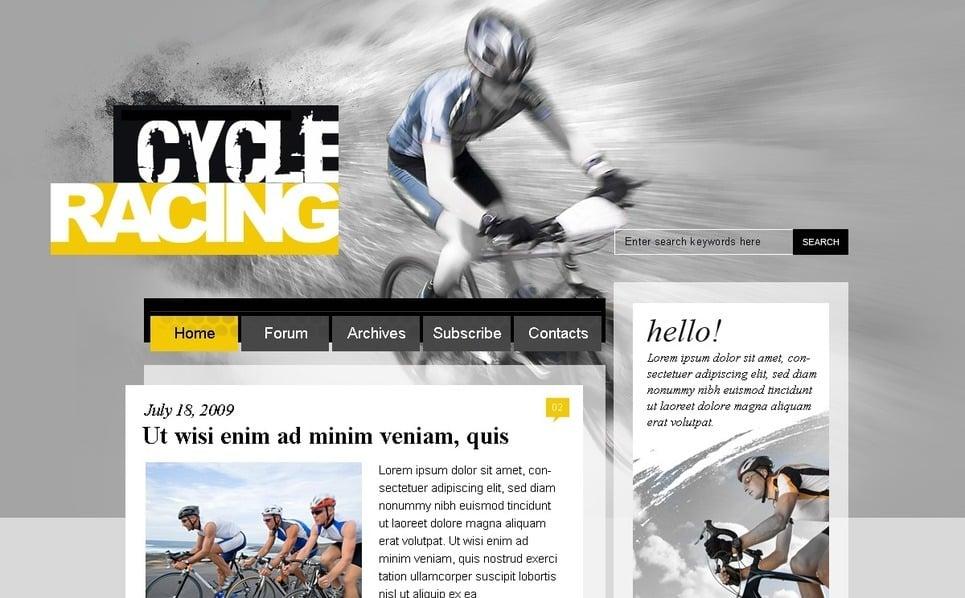 Bisikletçilik  Psd Şablon New Screenshots BIG