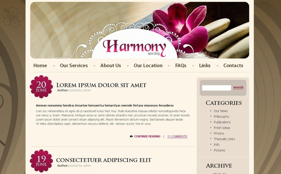 PSD Template over Schoonheidssalon New Screenshots BIG