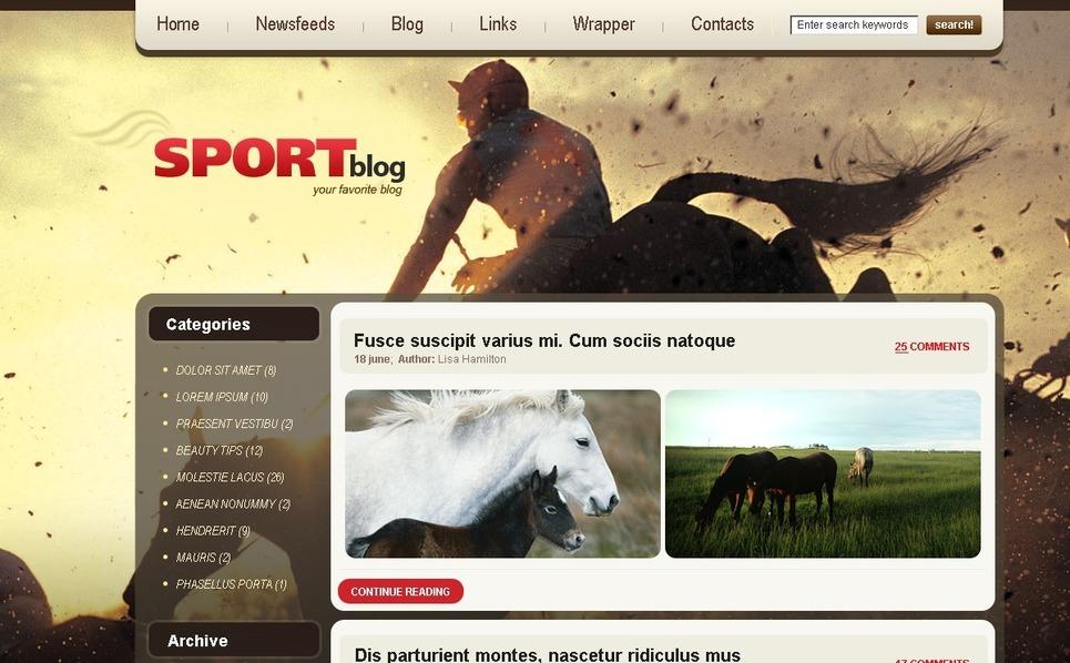 Szablon PSD #49856 na temat: wyścigi konne New Screenshots BIG