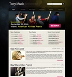 Music PSD  Template 49859