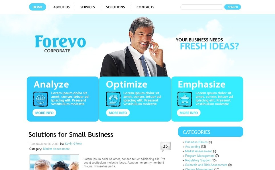Template Photoshop  para Sites de Business & Services №49860 New Screenshots BIG