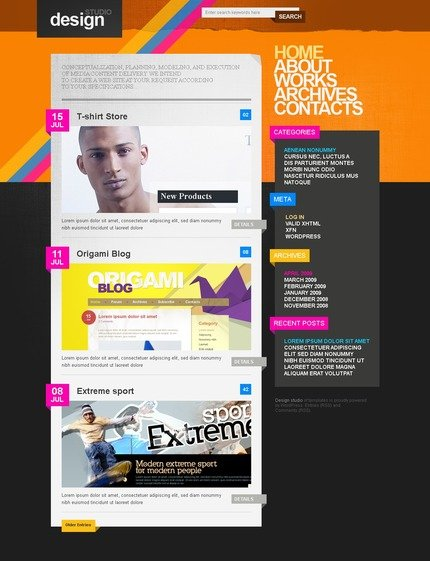 ADOBE Photoshop Template 49863 Home Page Screenshot