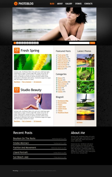 ADOBE Photoshop Template 49866 Home Page Screenshot