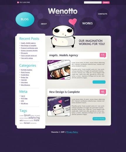 ADOBE Photoshop Template 49870 Home Page Screenshot